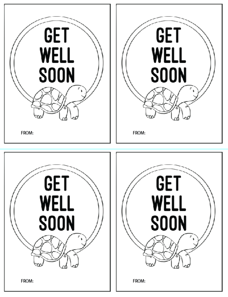 screenshot of get well soon postcards for a church craft