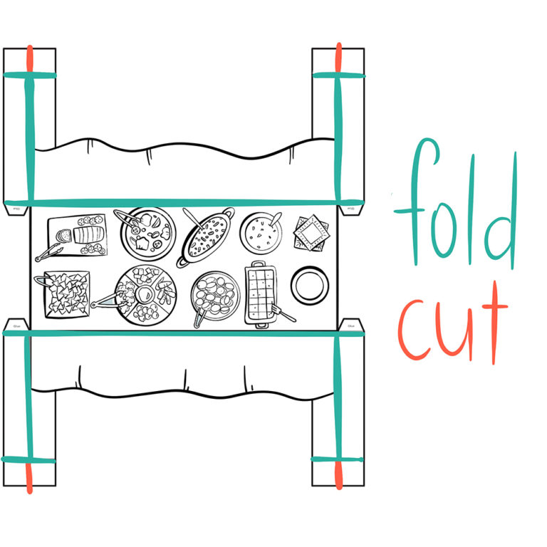 cutting and folding guide for craft