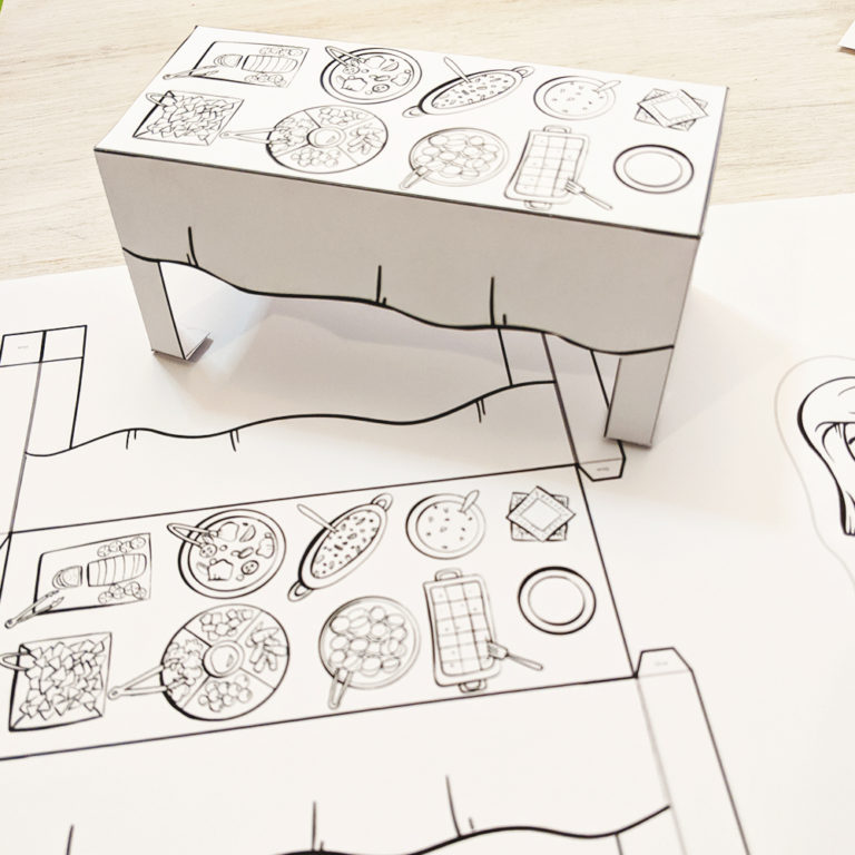 photo of a paper craft - table