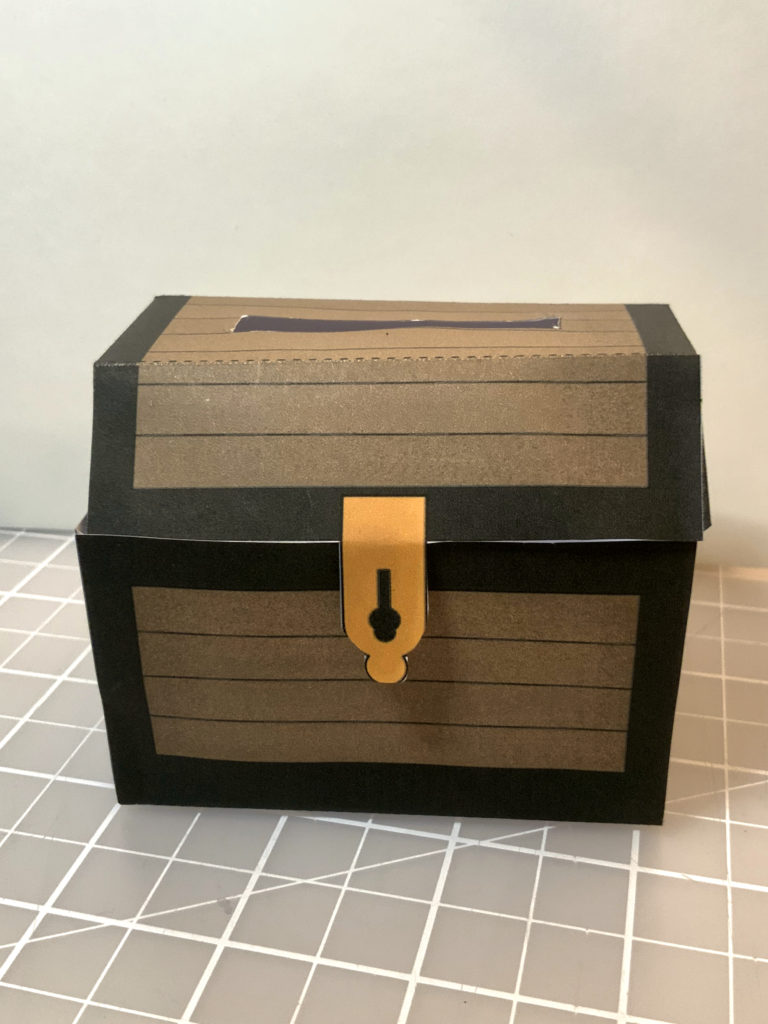 Photo of a paper wooden chest