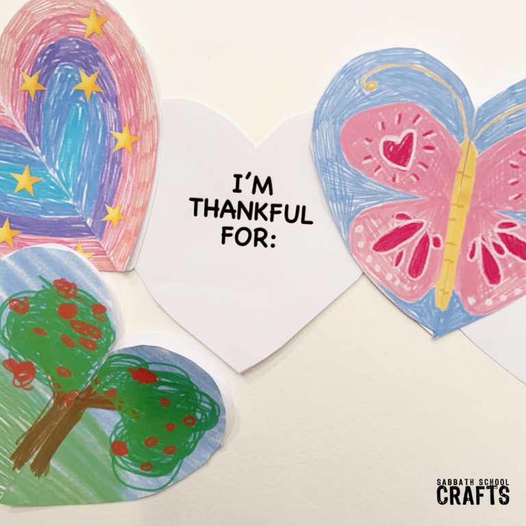 Photo of a craft and thankfulness for kids