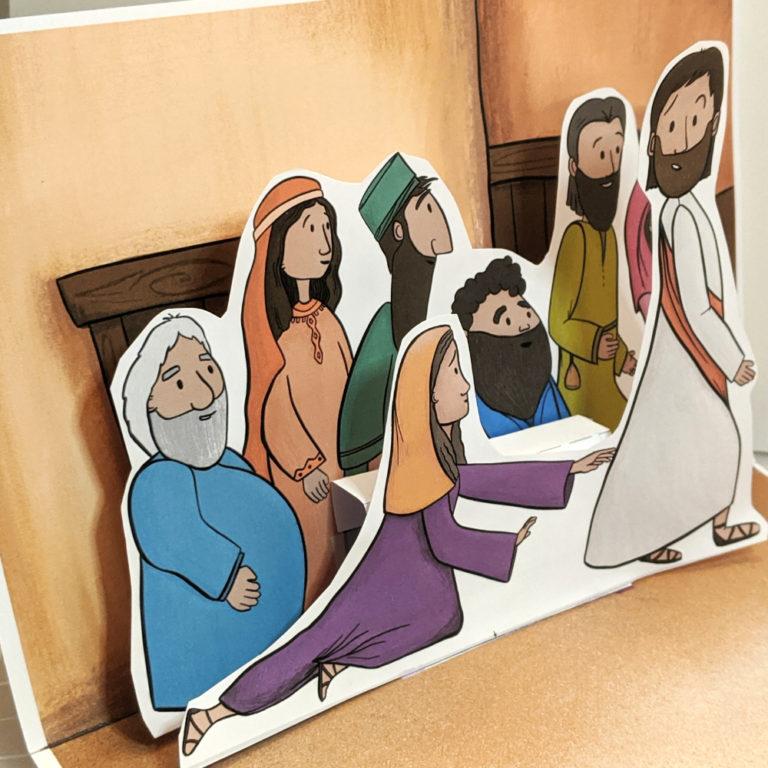 Craft for children for church healing Jesus