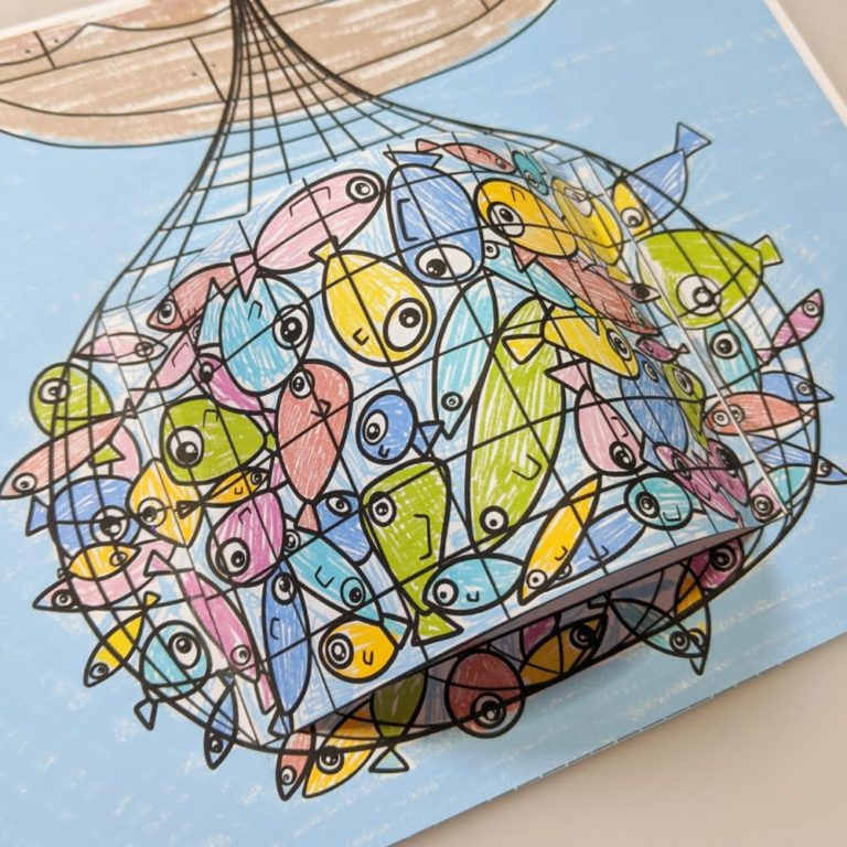 bible craft for kids a net full of fish3