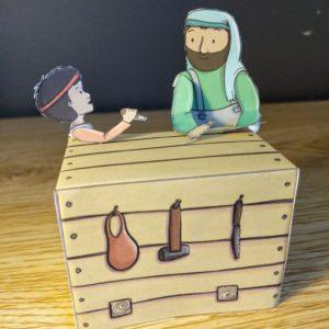 jesus as a boy helping joseph