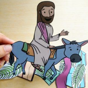 jesus riding on a donkey craft