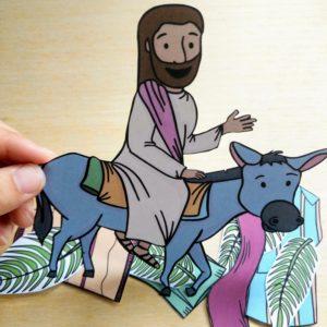 jesus riding on a donkey craft