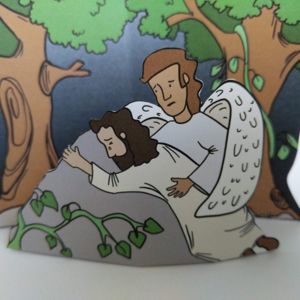 Jesus in gethsame craft easter craft