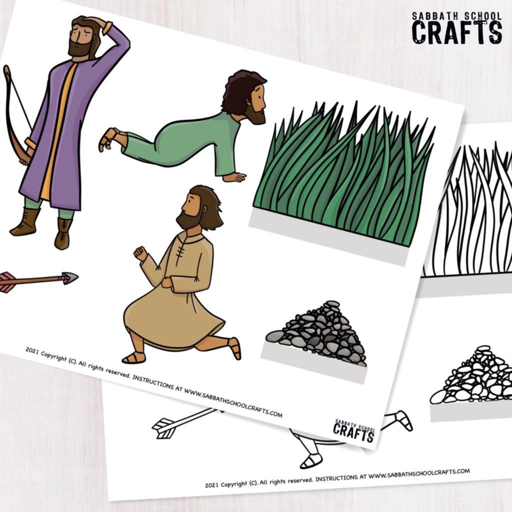 Jonathan and David Bible craft