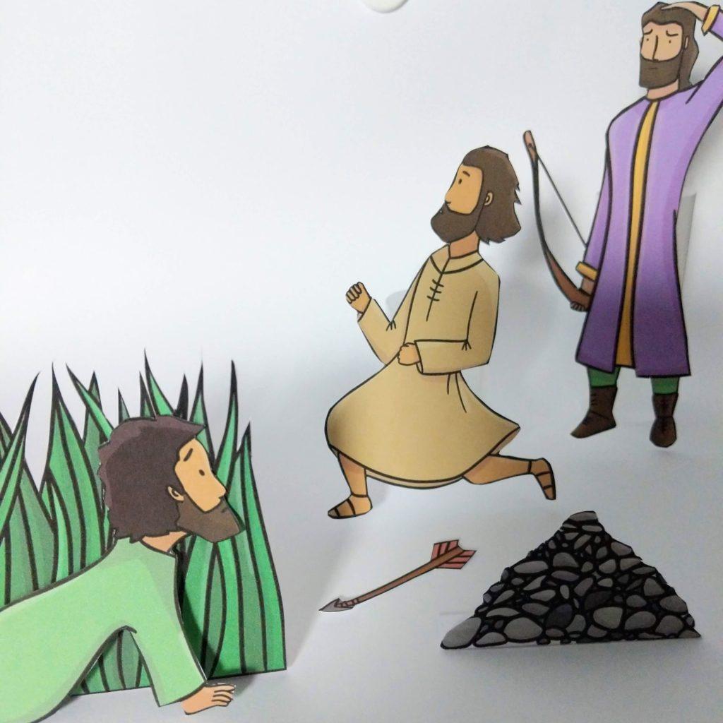 Jonathan and David Bible craft 2