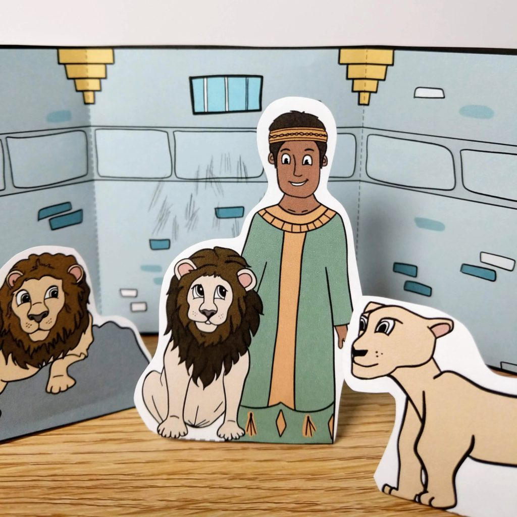 Daniel in the lions den craft for kids