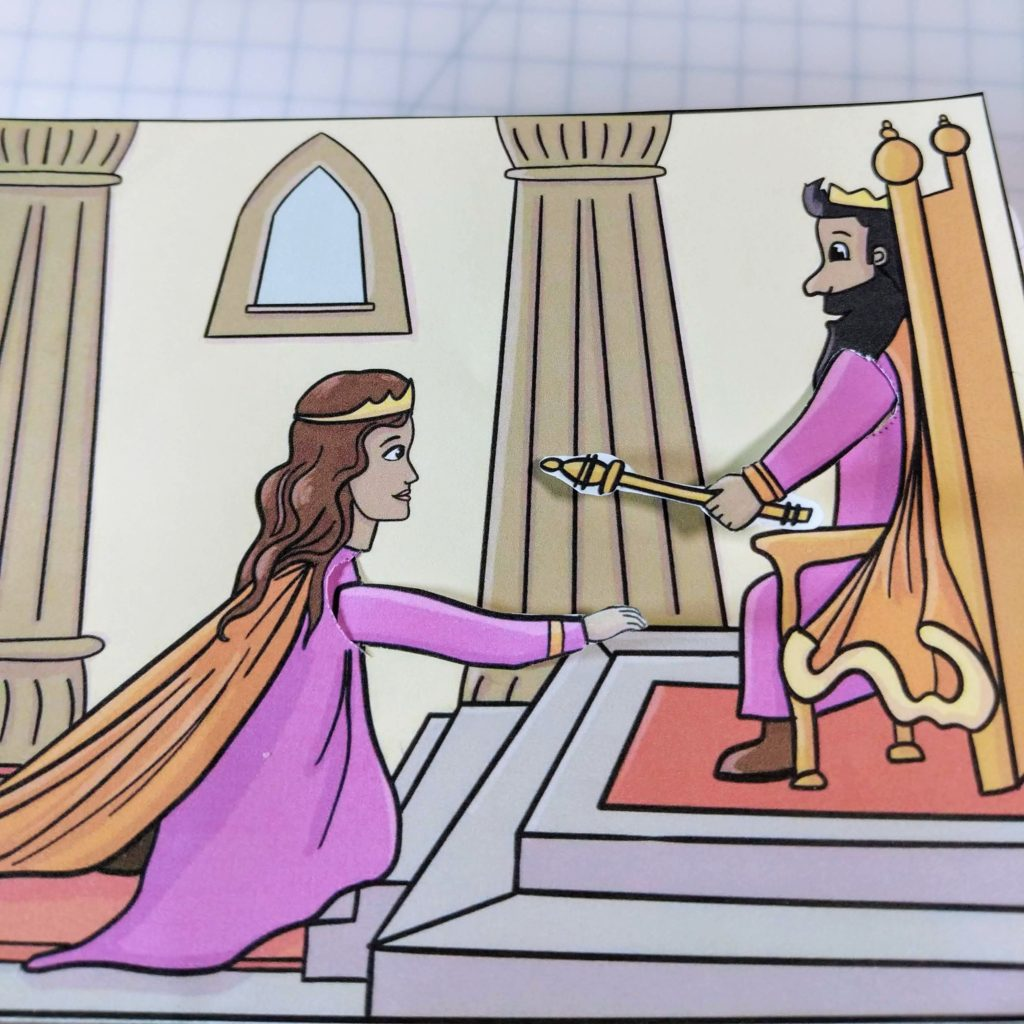 Queen Esther saves her people craft
