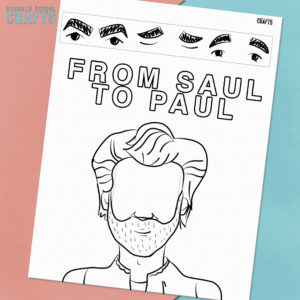 image of the bible craft saul becomes paul on a pink and blue background