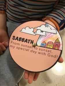 Kids sabbath bible craft