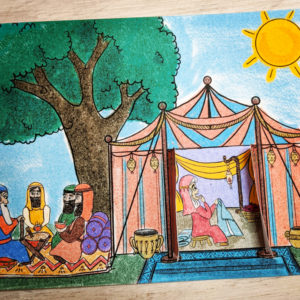 sarah's special baby paper bible craft