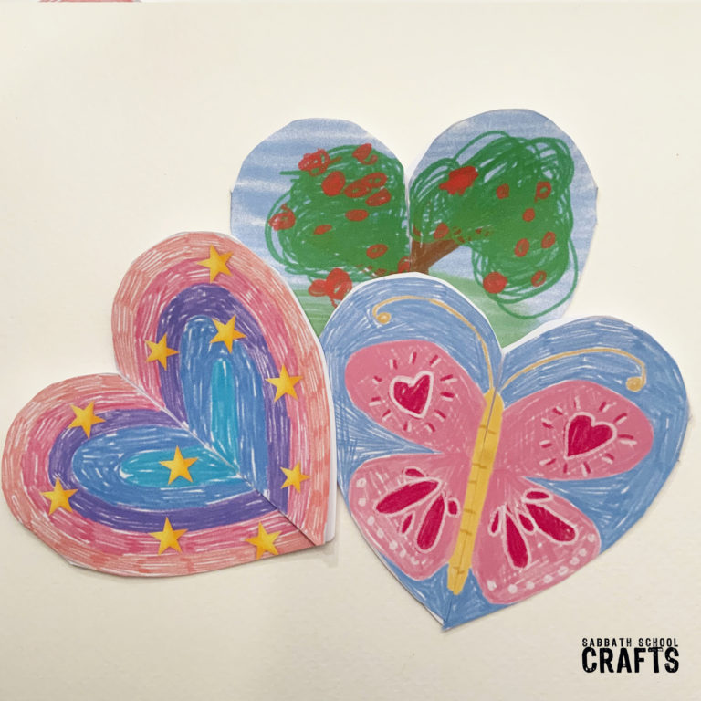 Heart of thanks craft for kids