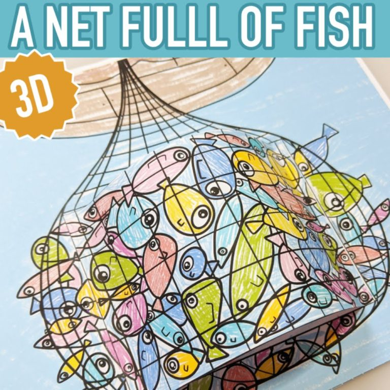 bible craft for kids a net full of fish1