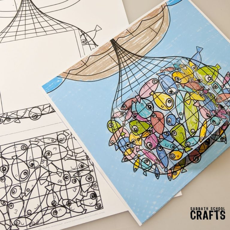 bible craft for kids a net full of fish4