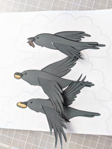 photo of bible craft for kids raven feeding elijah