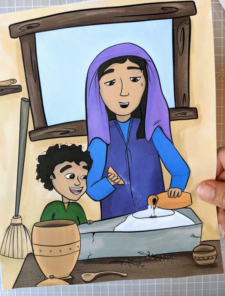 elijah bible craft miracle oil and flour