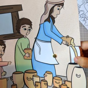 bible craft never ending oil widow elisha