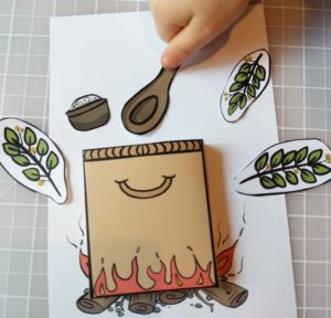 photo of a bible craft based on the story of prophet elisha and the poison in the pot