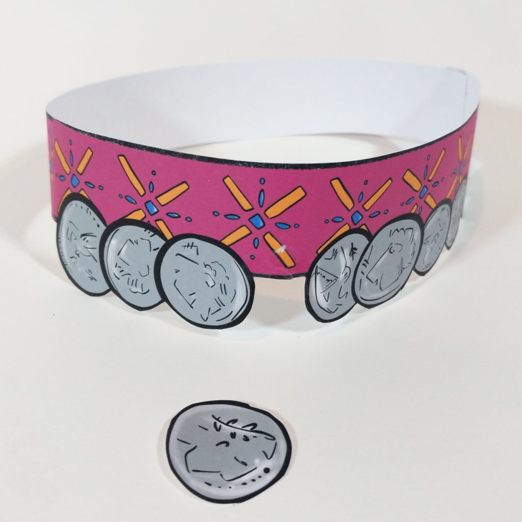 photo of the lost coin bible craft for kids