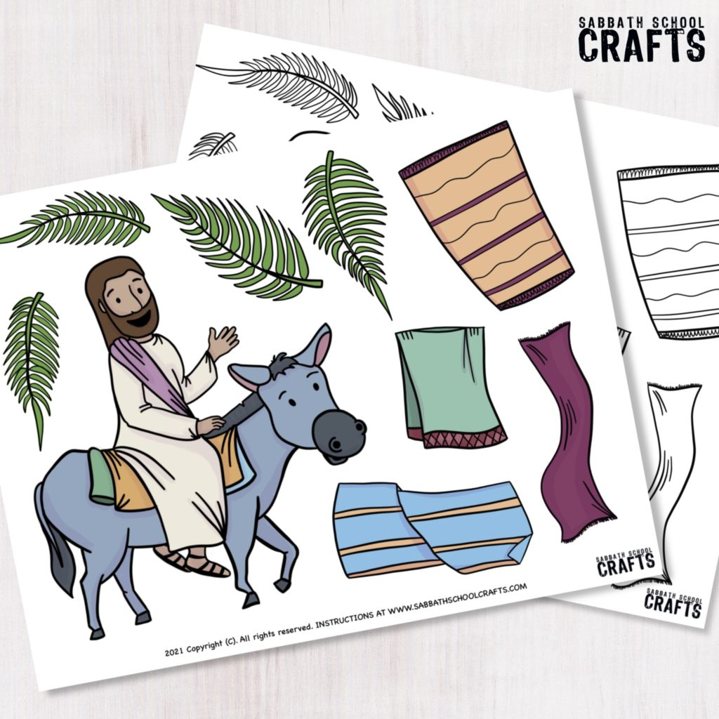 Jesus ride a donkey Bible craft for kids