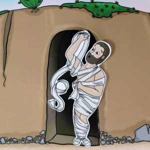 image of lazareth coming out of the tomb