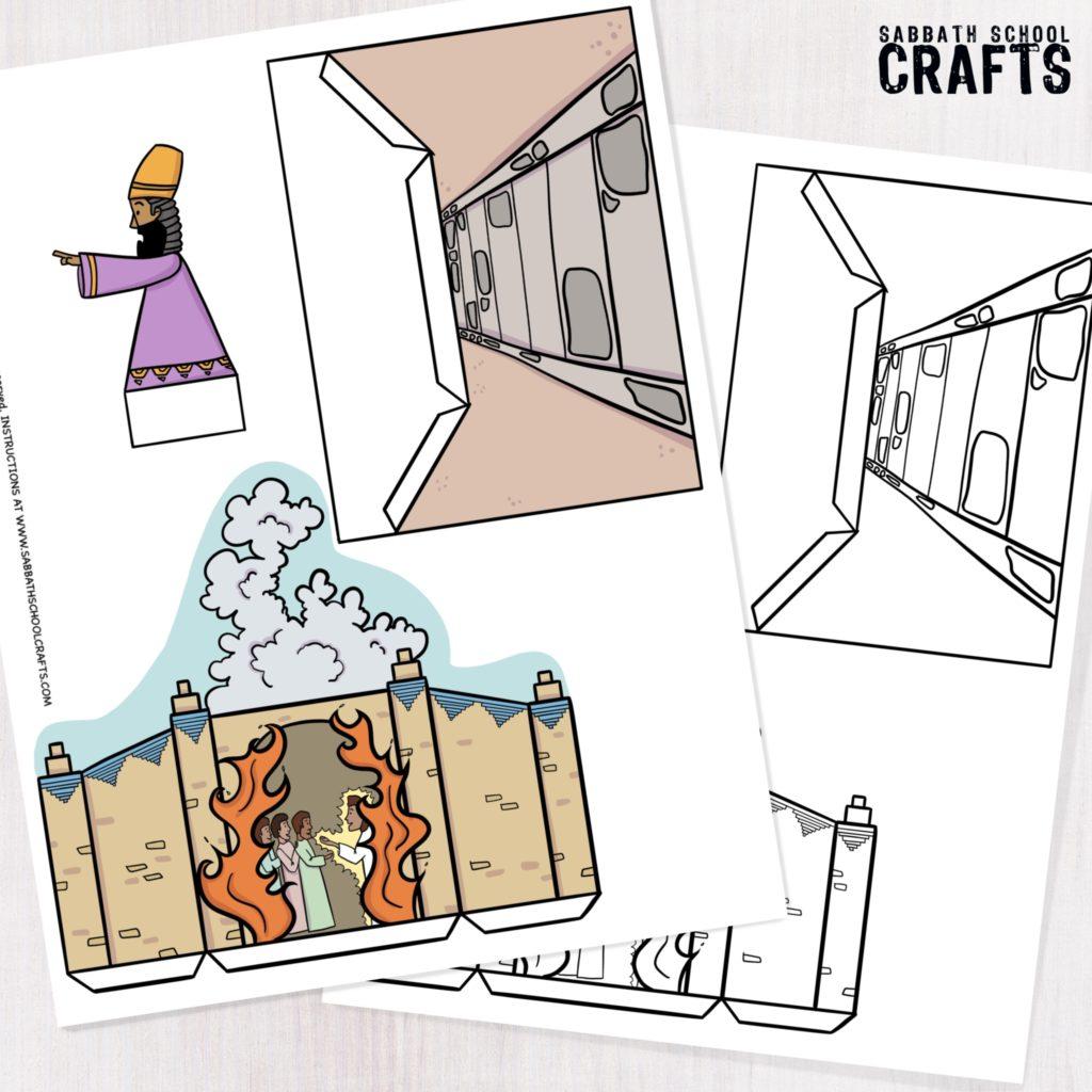 The fiery furnace kids bible craft