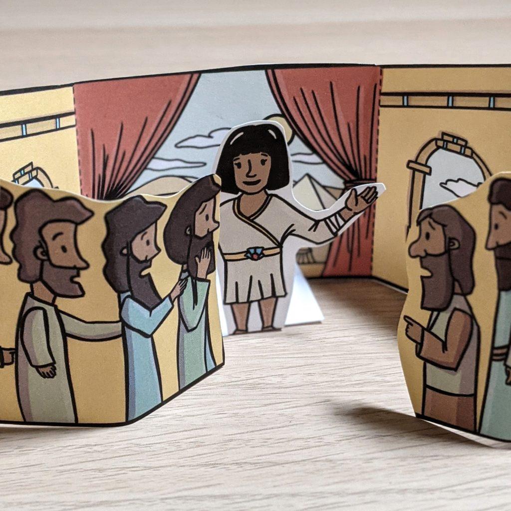 Joseph in egypt bible craft for kids 2